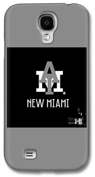 Dolphin Tapestries - Textiles Galaxy S4 Cases - New Miami Smoke Galaxy S4 Case by HI Level