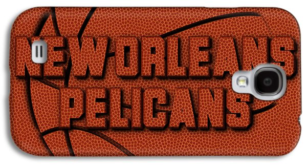 New Orleans Pelicans Leather Art Galaxy S4 Case by Joe Hamilton
