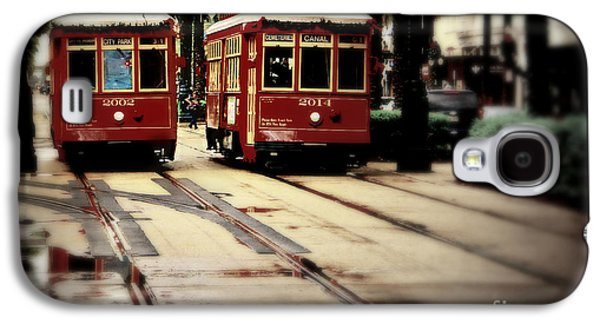 Historical Pictures Galaxy S4 Cases - New Orleans Red Streetcars Galaxy S4 Case by Perry Webster