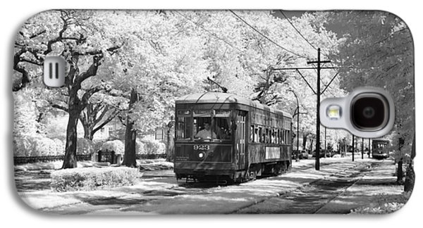 Telephone Poles Galaxy S4 Cases - New Orleans: Streetcar Galaxy S4 Case by Granger