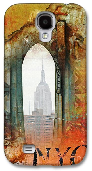 Industrial Mixed Media Galaxy S4 Cases - New York Abstract Print Galaxy S4 Case by ArtyZen Studios - ArtyZen Home