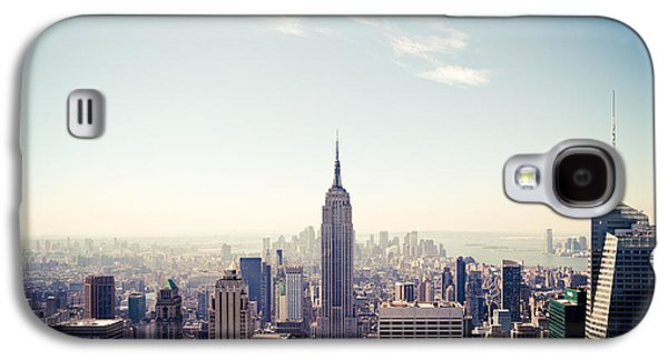 Building Photographs Galaxy S4 Cases - New York City - Empire State Building Panorama Galaxy S4 Case by Thomas Richter