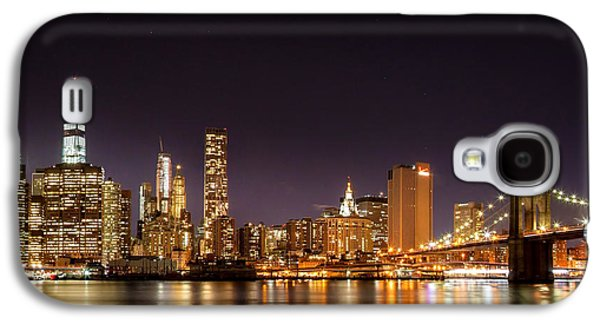 Trade Galaxy S4 Cases - New York City Lights At Night Galaxy S4 Case by Az Jackson
