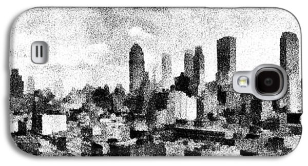New York City Skyline Sketch Galaxy S4 Case by Edward Fielding