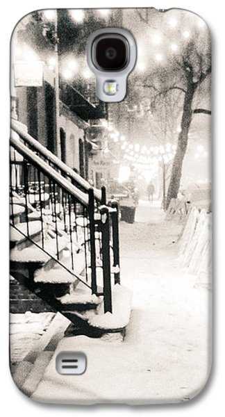 East Village Galaxy S4 Cases - New York City - Snow Galaxy S4 Case by Vivienne Gucwa