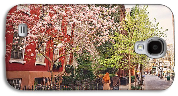 Cherry Blossoms Galaxy S4 Cases - New York City - Springtime - West Village Galaxy S4 Case by Vivienne Gucwa