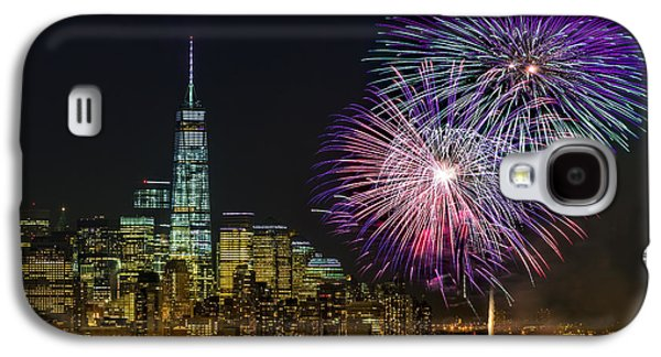 Pyrotechnics Galaxy S4 Cases - New York City Summer Fireworks Galaxy S4 Case by Susan Candelario