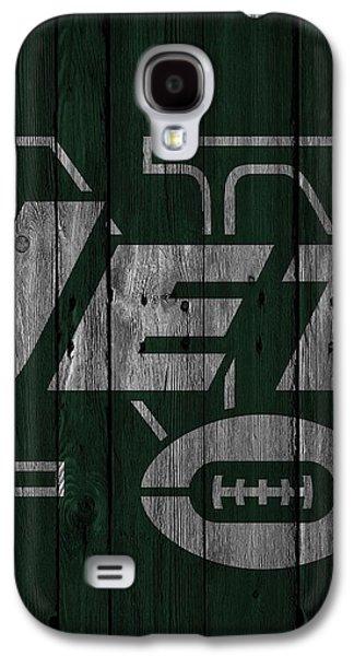 New York Jets Wood Fence Galaxy S4 Case by Joe Hamilton