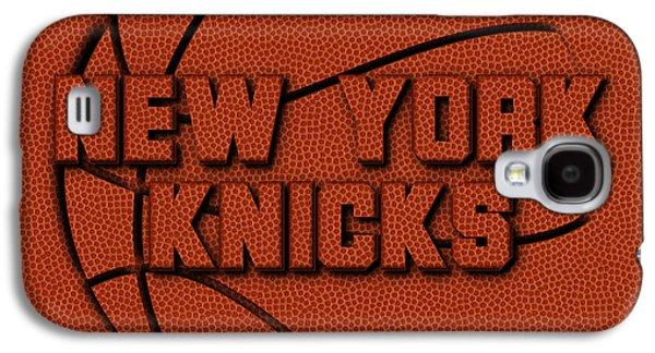New York Knicks Leather Art Galaxy S4 Case by Joe Hamilton