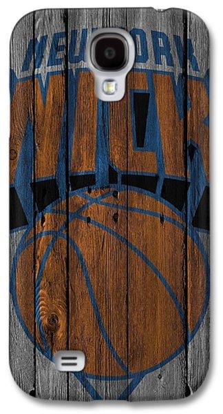 New York Knicks Wood Fence Galaxy S4 Case by Joe Hamilton