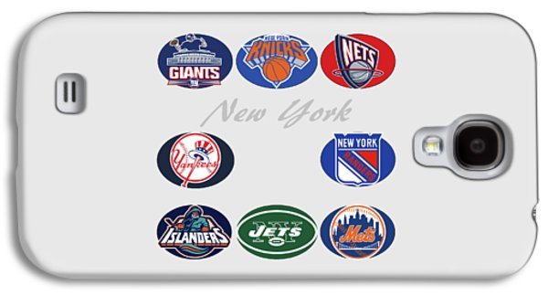 New York Professional Sport Teams Collage  Galaxy S4 Case by Movie Poster Prints