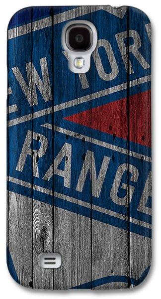 New York Rangers Wood Fence Galaxy S4 Case by Joe Hamilton