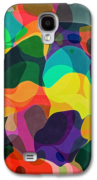 Abstract Digital Mixed Media Galaxy S4 Cases - Newport Dunes/Festival Galaxy S4 Case by Mark Santistevan