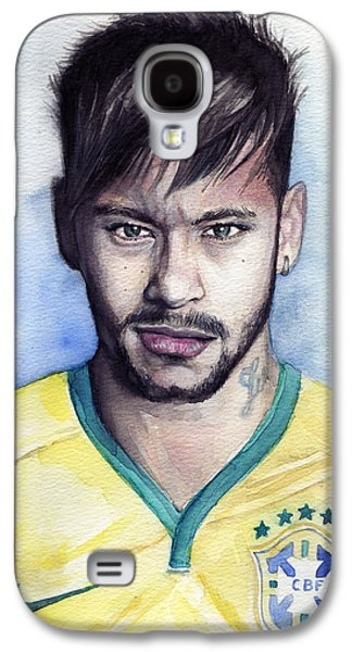 Nike Paintings Galaxy S4 Cases - Neymar Galaxy S4 Case by Alban Dizdari