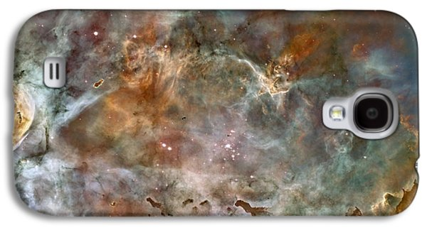 Nature Abstract Pyrography Galaxy S4 Cases - NGC 3372 taken by Hubble Space Telescope Galaxy S4 Case by Artistic Panda