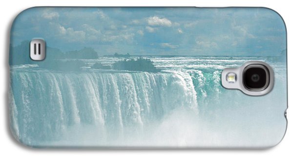 Turbulent Skies Galaxy S4 Cases - Niagara Falls In The Blue Mist Galaxy S4 Case by Ben and Raisa Gertsberg