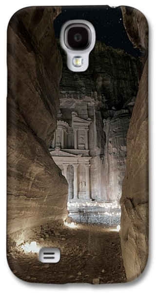 Nabatean Galaxy S4 Cases - Night at Petra Galaxy S4 Case by Stephen Stookey