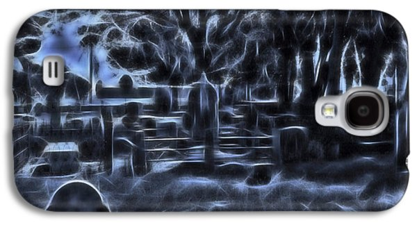 Creepy Galaxy S4 Cases - Night At The Cemetery Galaxy S4 Case by D Hackett