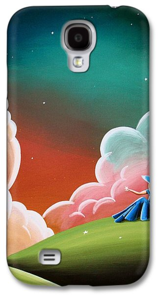Night Sky Paintings Galaxy S4 Cases - Night Lights Galaxy S4 Case by Cindy Thornton