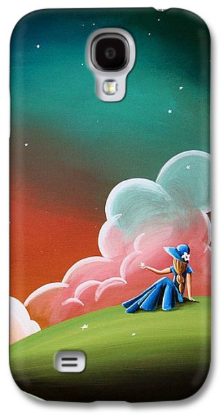 Concept Paintings Galaxy S4 Cases - Night Lights Galaxy S4 Case by Cindy Thornton