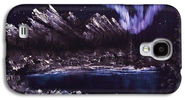 Bob Ross Paintings Galaxy S4 Cases - Night Lights Galaxy S4 Case by Gavin Kutil