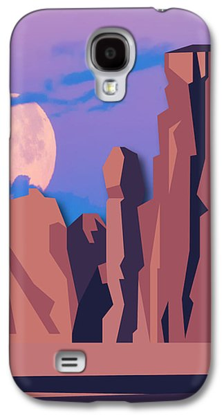 Abstract Nature Galaxy S4 Cases - Night Mountains No. 14 Galaxy S4 Case by Henrik Bakmann