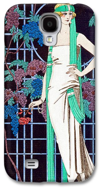 Grapes Art Deco Galaxy S4 Cases - Night Rose Galaxy S4 Case by Georges Barbier