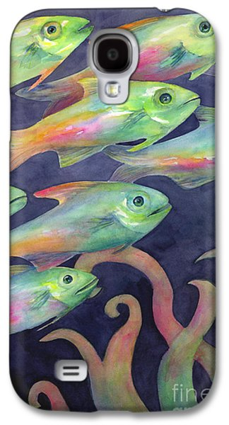 Schools Of Fish Galaxy S4 Cases - Night School Galaxy S4 Case by Amy Kirkpatrick