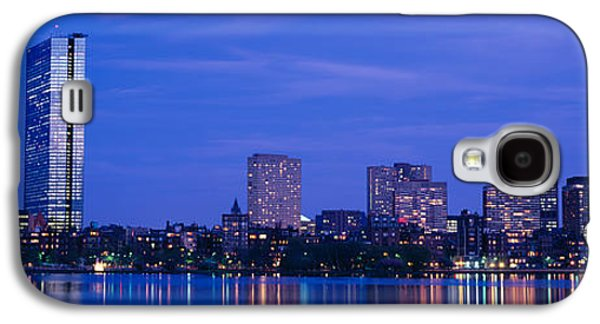 Night, Skyline, Back Bay, Boston Galaxy S4 Case by Panoramic Images