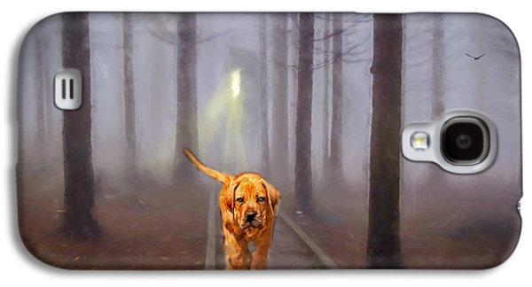 Puppies Digital Art Galaxy S4 Cases - Night Stroll Galaxy S4 Case by EricaMaxine  Price