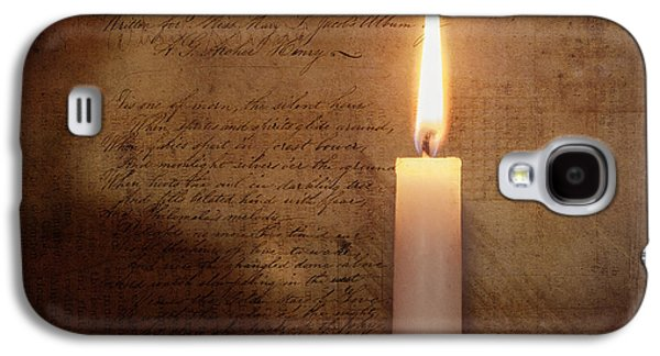 Contemplative Mixed Media Galaxy S4 Cases - Nights Candle Galaxy S4 Case by Terry Rowe
