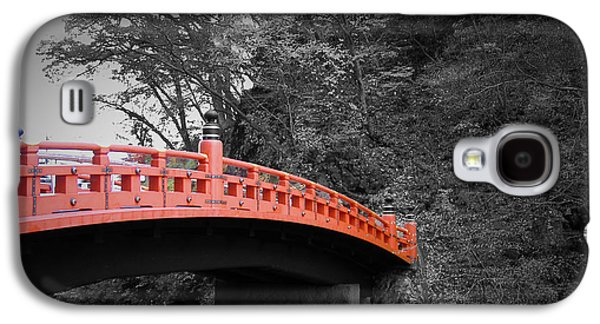 Buddhist Monk Galaxy S4 Cases - Nikko Red Bridge Galaxy S4 Case by Naxart Studio