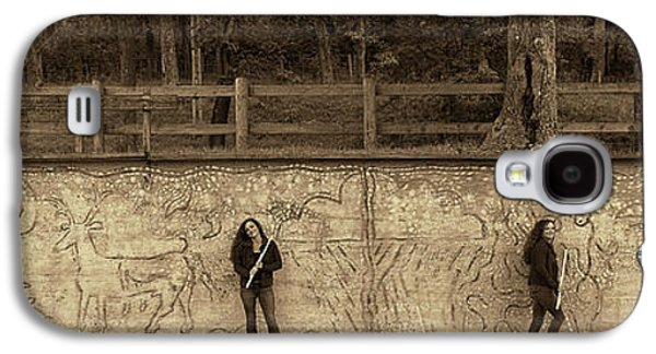 Nina At The Wall With Flute Galaxy S4 Case by Dan Friend