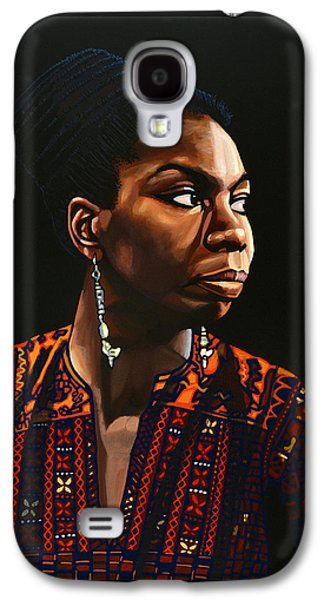 Holiday Paintings Galaxy S4 Cases - Nina Simone Galaxy S4 Case by Paul Meijering