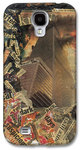 Twin Towers Nyc Galaxy S4 Cases - Nine Eleven Galaxy S4 Case by Ikahl Beckford