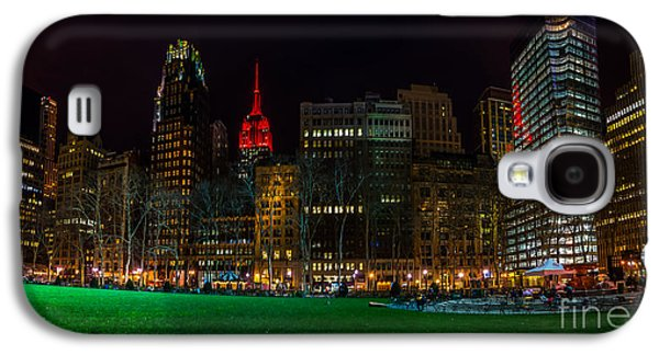 Bryant Park Galaxy S4 Cases - Nite at Bryant Park Galaxy S4 Case by Nick Zelinsky