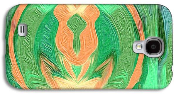 Landscape Acrylic Prints Galaxy S4 Cases - Nixo Abstract Art C4 Galaxy S4 Case by Nixolas Nixo