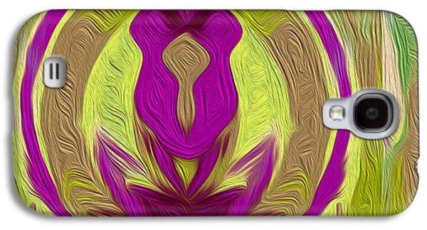 Landscape Acrylic Prints Galaxy S4 Cases - Nixo Abstract Art C6 Galaxy S4 Case by Nixolas Nixo