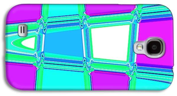 Landscape Acrylic Prints Galaxy S4 Cases - Nixo Abstract Art G66 Galaxy S4 Case by Nixolas Nixo