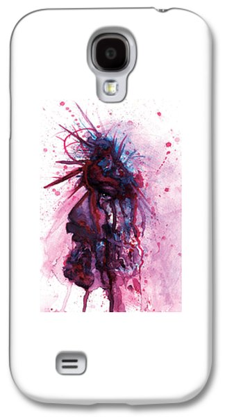 Torn Pastels Galaxy S4 Cases - NO GREATER LOVE Pastel Eikons of Christ Galaxy S4 Case by Vicki Thomas