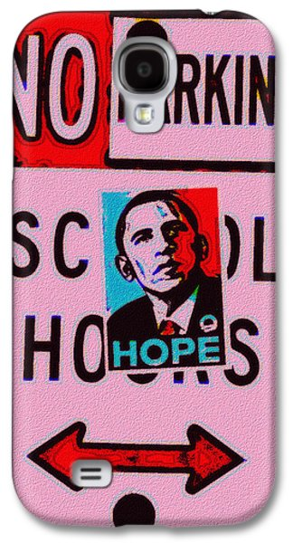 Obama Galaxy S4 Cases - No Parking Galaxy S4 Case by Bill Cannon