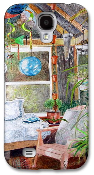 Interior Still Life Drawings Galaxy S4 Cases - No Stones Galaxy S4 Case by Vera Rodgers