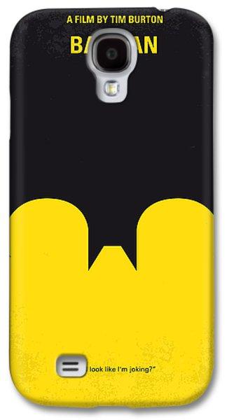 Dark Digital Galaxy S4 Cases - No008 My Batman minimal movie poster Galaxy S4 Case by Chungkong Art