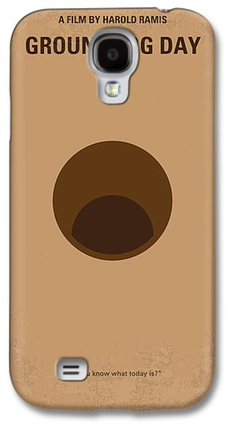 Weather Galaxy S4 Cases - No031 My Groundhog minimal movie poster Galaxy S4 Case by Chungkong Art