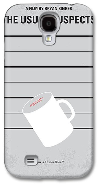 Fan Art Galaxy S4 Cases - No095 My The usual suspects minimal movie poster Galaxy S4 Case by Chungkong Art
