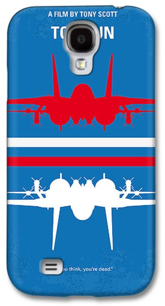 No128 My Top Gun Minimal Movie Poster Galaxy S4 Case by Chungkong Art