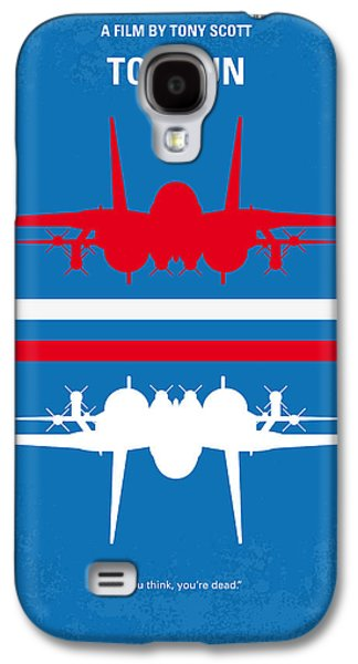 Wall Galaxy S4 Cases - No128 My TOP GUN minimal movie poster Galaxy S4 Case by Chungkong Art