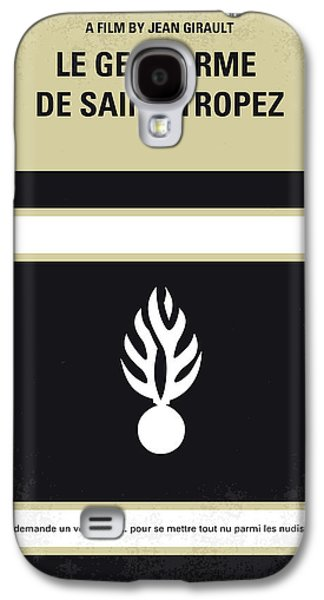 Police Galaxy S4 Cases - No186 My Le Gendarme de Saint-Tropez minimal movie poster Galaxy S4 Case by Chungkong Art