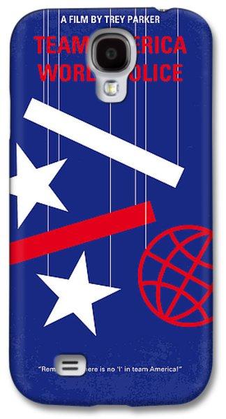Kim Digital Art Galaxy S4 Cases - No475 My Team America minimal movie poster Galaxy S4 Case by Chungkong Art