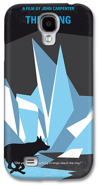 Base Galaxy S4 Cases - No466 My The Thing minimal movie poster Galaxy S4 Case by Chungkong Art